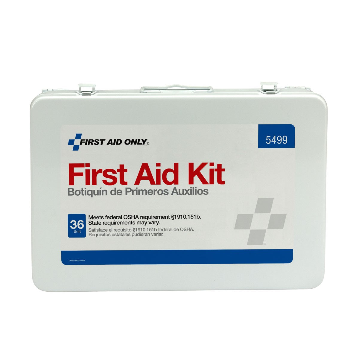 36 Unit First Aid Kit With BBP And CPR, Metal Case