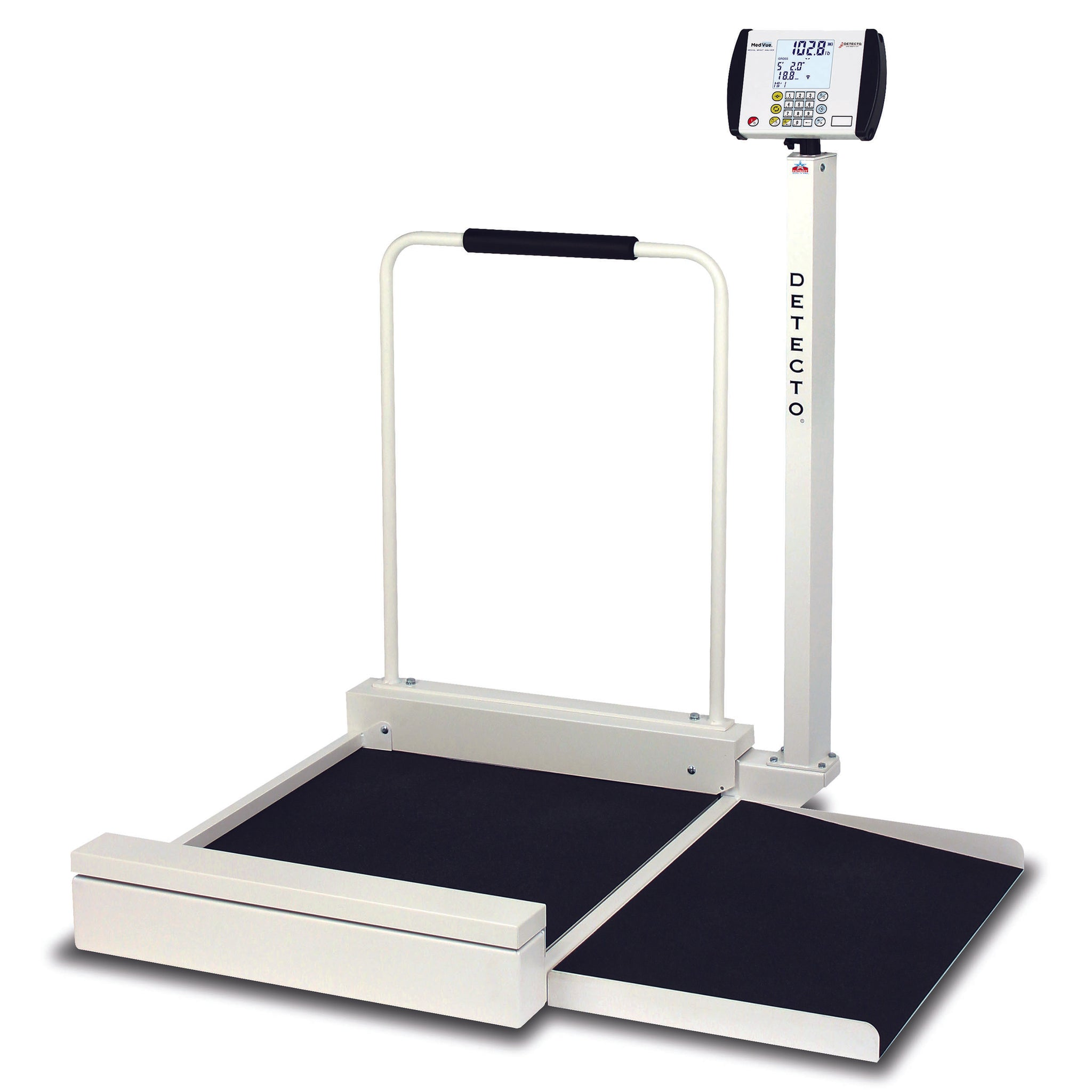 Detecto 6495 Stationary Heavy-Duty Wheelchair Scale
