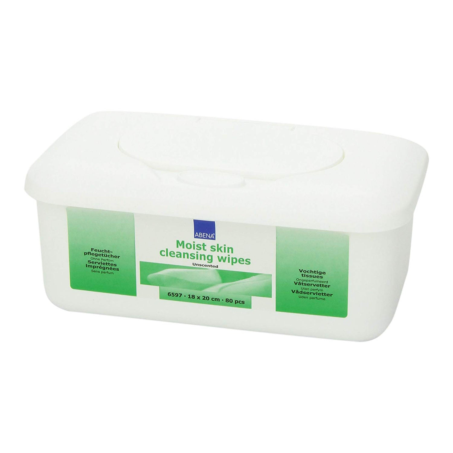 Abena Plastic Tub Cleansing Wipes (80 pcs.)