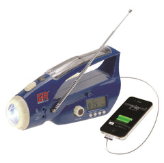 ER™ Emergency Ready Solar/Hand-Crank Powered Flashlight & Weather Band Radio