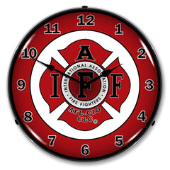 "International Association Fire Fighters AFL-CIO CLC 14"" LED Wall Clock"
