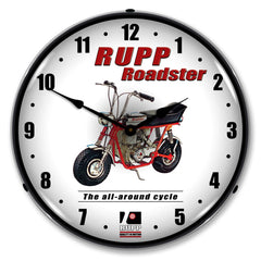 "Rupp Roadster ""The All-Around Cycle"" 14"" LED Wall Clock"