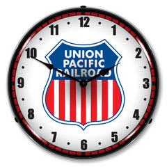 "Union Pacific Railroad 14"" LED Wall Clock"