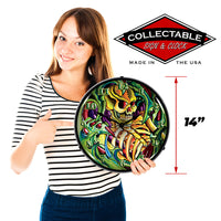 "Tattoo Skull 14"" LED Wall Clock"