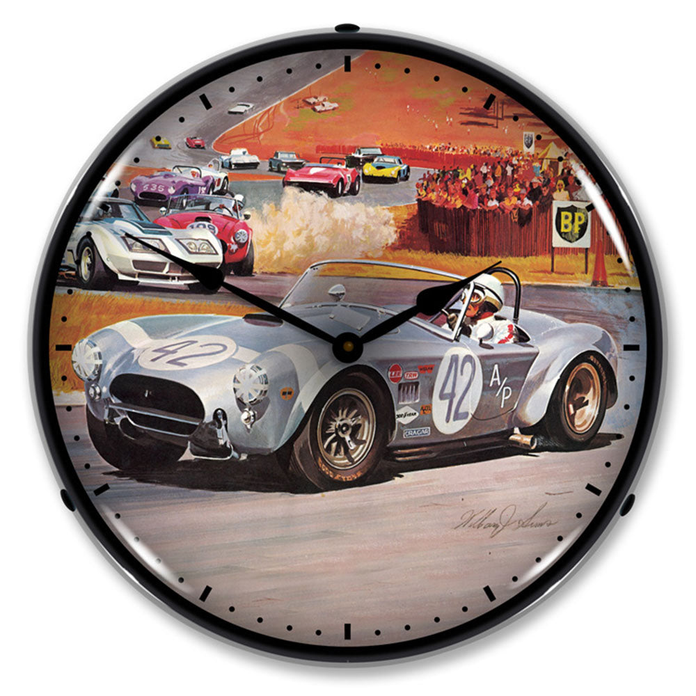 "AC Cobra Race 14"" LED Wall Clock"