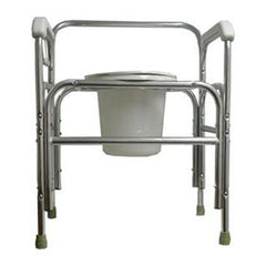 ConvaQuip 724T Bedside Commode with Fixed Arms Tall
