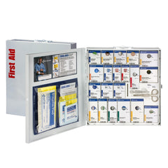 First Aid Only 50 Person Large Metal Smart Compliance First Aid Cabinet Without Medications
