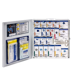 First Aid Only 50 Person Large Metal Smart Compliance Food Service First Aid Cabinet without Medications