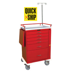 Harloff Emergency Cart, 6 Drawers, Specialty Package