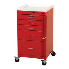 Harloff Mini Line Emergency Cart, 5 Drawers, Breakaway Lock