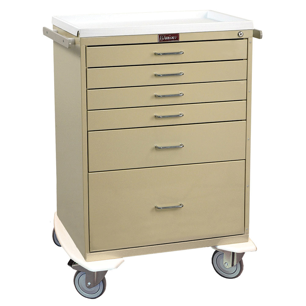 Harloff Classic Line Anesthesia Workstation, 6 Drawers, Key Lock