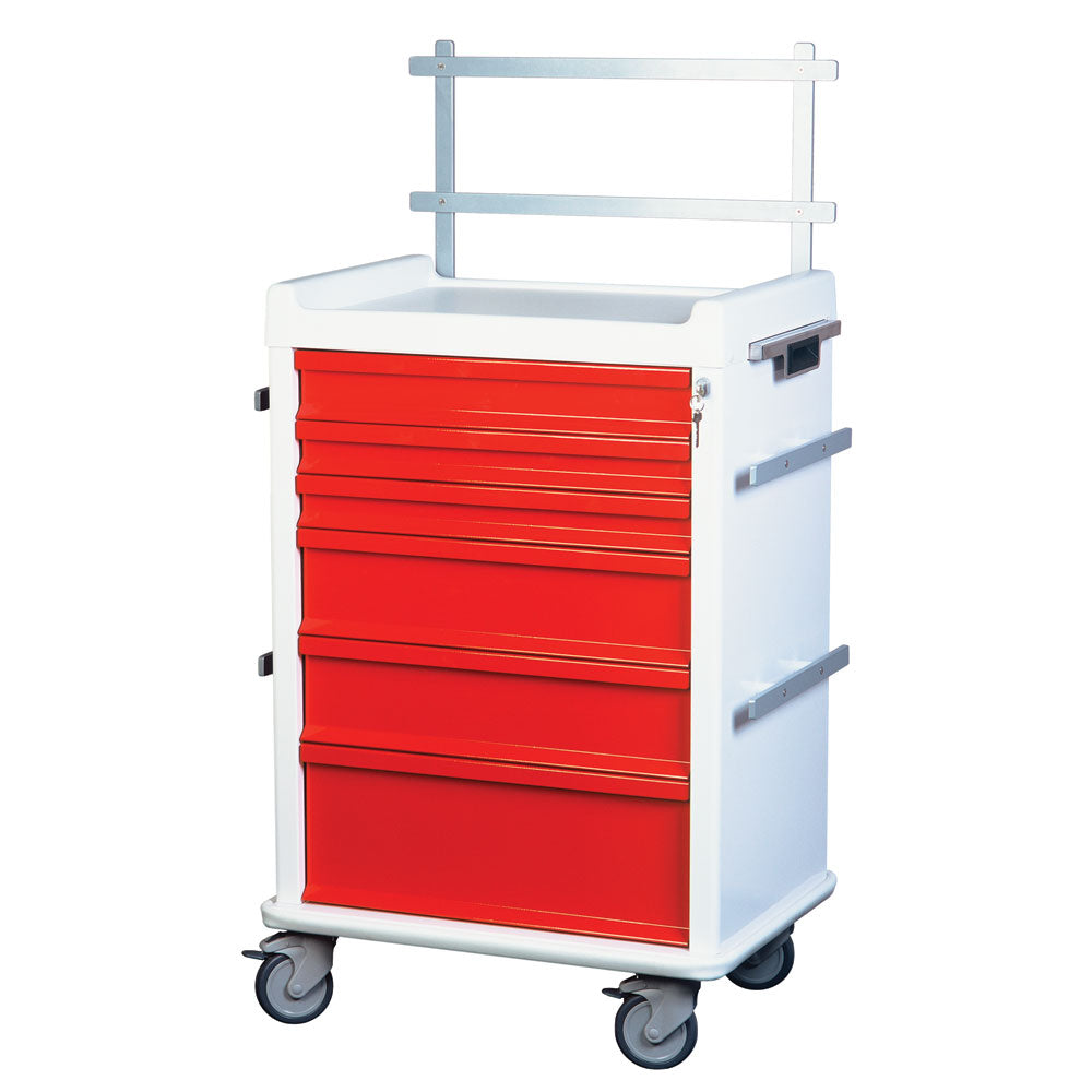 Harloff MR-Conditional Anesthesia Cart, 6-Drawers, Speciality Package