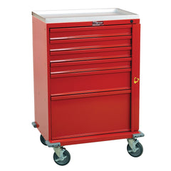 Harloff V-Series Line Emergency Crash Cart, 6 Drawers, Removable AMR Plastic Top