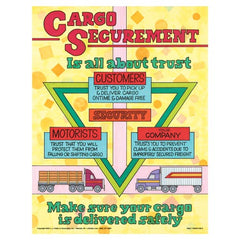 "JJ Keller Dry Van Cargo Securement Training Program, Second Edition - Cargo Securement is All About Trust Poster - ""Cargo Securement is All About Trust"""