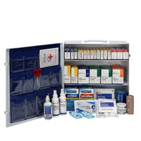 First Aid Only 100 Person 3 Shelf First Aid Metal Cabinet, ANSI B+, Type I and II with Medication