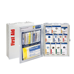 First Aid Only 25 Person Medium Metal Smart Compliance First Aid Food Service Cabinet without Medications