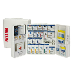 First Aid Only 50 Person Large Plastic Smart Compliance First Aid Food Service Cabinet with Medications