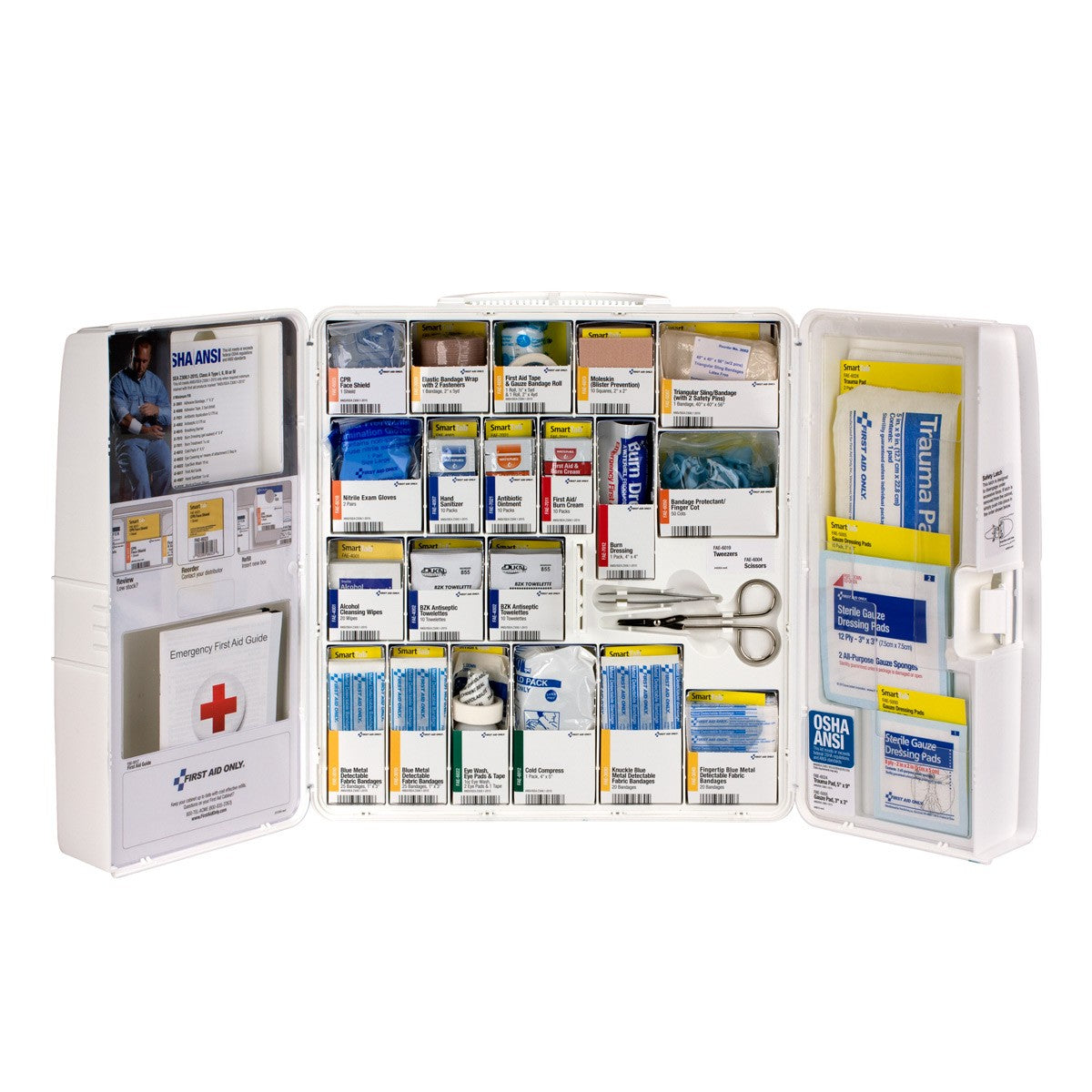 First Aid Only 50 Person Large Plastic Smart Compliance First Aid Food Service Cabinet without Medications