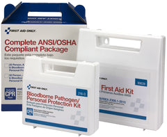 First Aid Only 50 Person Complete ANSI/OSHA Compliance Package for First Aid and BBP, Bloodborne Pathogens