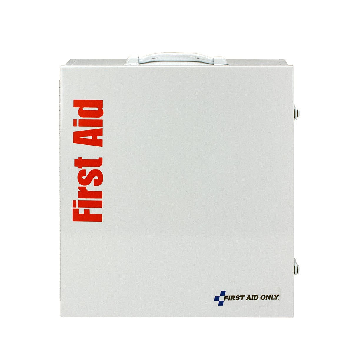First Aid Only 100 Person 3 Shelf First Aid Metal Cabinet, ANSI B+, Type I and II, without Medications