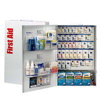 First Aid Only 200 Person XXL Metal Smart Compliance First Aid Cabinet with Medication