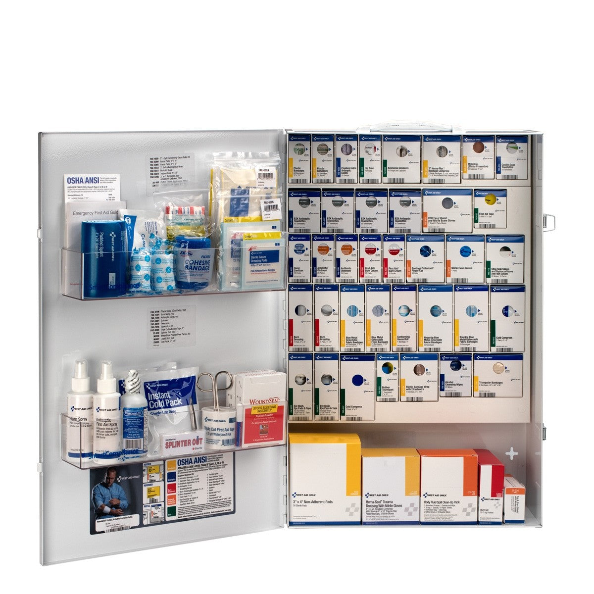 First Aid Only 200 Person XXL Metal Smart Compliance Food Service First Aid Cabinet without Medications