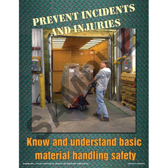 JJ Keller The Ups and Downs of Material Handling Equipment Safety Training Program - Awareness Poster