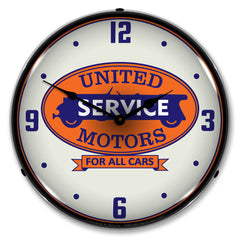"United Motros Service For All Cars 14"" LED Wall Clock"