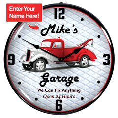 "Personalized Custom Garage 14"" LED Wall Clock"