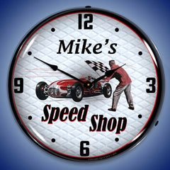 "Personalized Custom Poker Room 14"" LED Wall Clock"