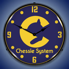 "Chessie System Railroad 14"" LED Wall Clock"