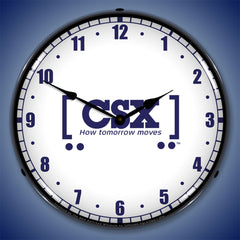 "CSX Railroad ""How Tomorrow Moves"" 14"" LED Wall Clock"