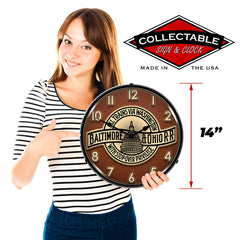 "Baltimore & Ohio Railroad 14"" LED Wall Clock"