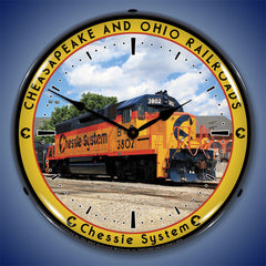 "Chessie System Cheasapeake and Ohio Railroads 14"" LED Wall Clock"