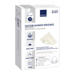 Abena Calcium Alginate Dressings with Silver (10 per Box)