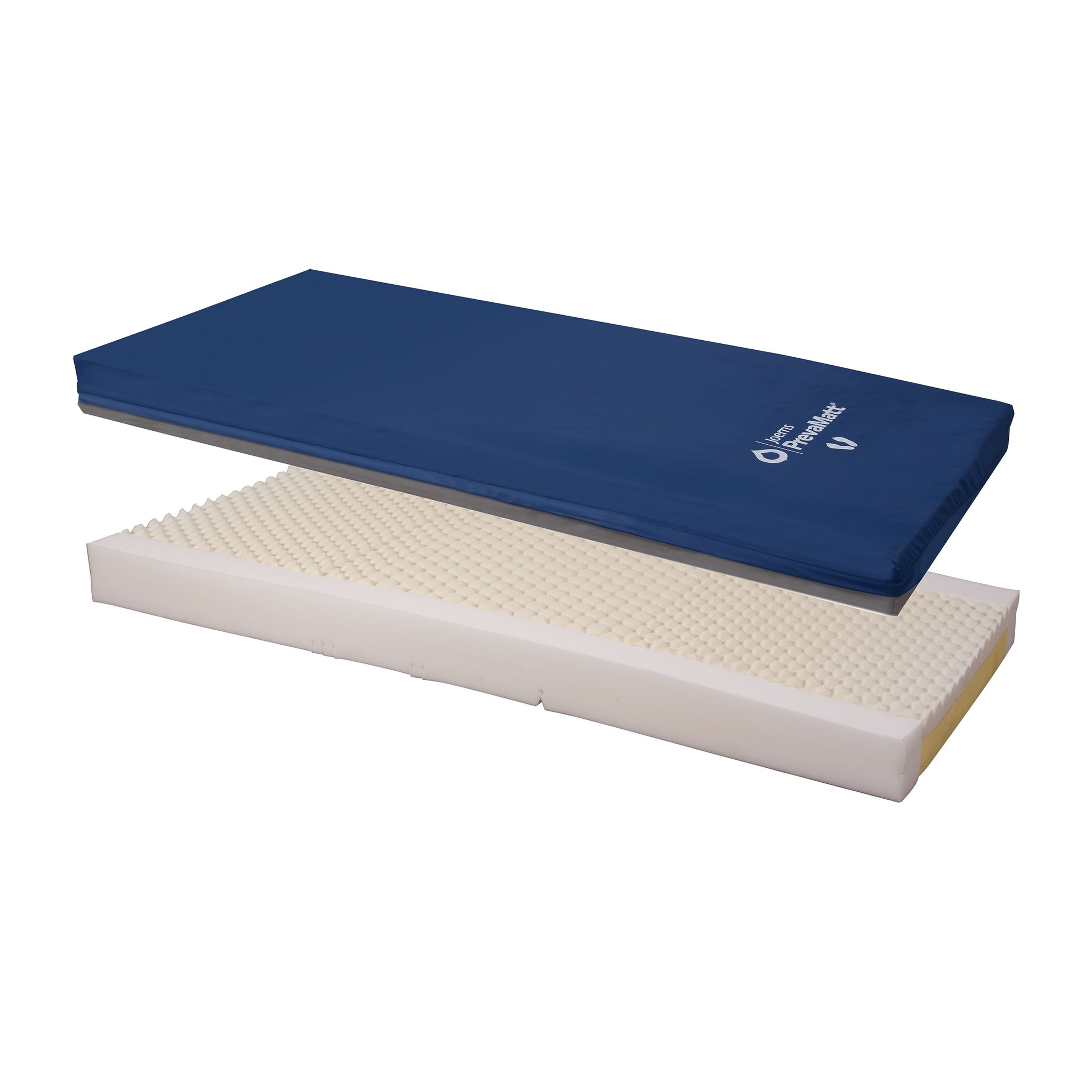 Joerns PrevaMatt Console Raised Perimeter Mattress with Zippered 2-Way Stretch Cover and Fire Barrier