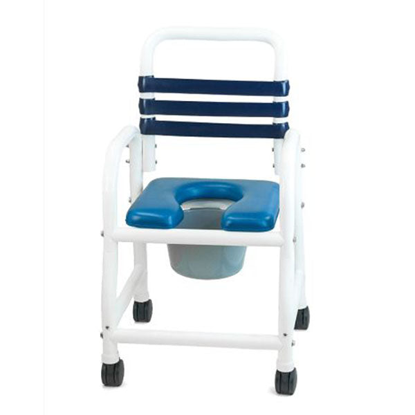 Mor-Medical Deluxe New Era Infection Control Shower Commode Chair with Open Front Removable Soft Seat, Commode Pail with Lid and Handle