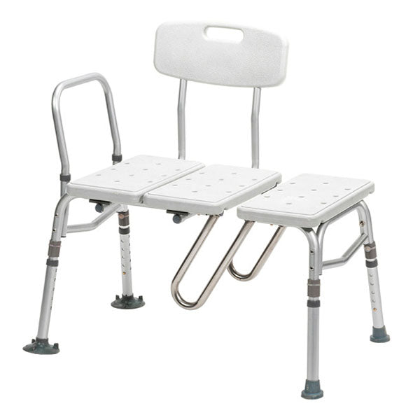 Drive Medical Splash Defense Bariatric Tub Transfer Bench with Curtain Guard Protection
