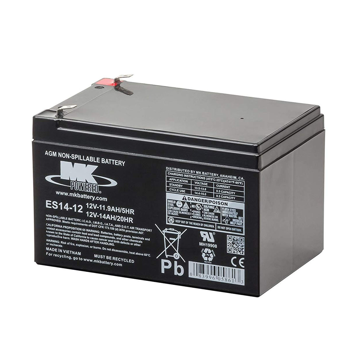 MK Battery 12V 14 Ah Small Sealed Lead-Acid