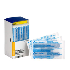 First Aid Only Smart Compliance Refill Knuckle Blue Metal Detectable Bandages, 20 Per Box