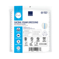 Abena Sacral Foam Dressing with Film Backing and Adhesive Border (5 Pieces per Box)