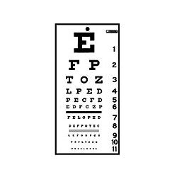 Graham Field Snellen Non-Reflective Eye Exam Chart