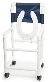 Graham Field Mobile PVC Shower Commode Chair