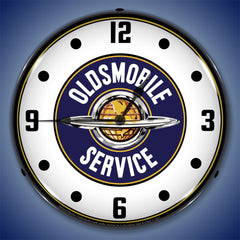 "Oldsmobile Service 14"" LED Wall Clock"