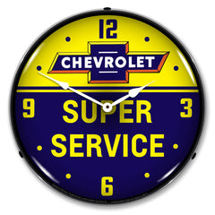 "Chevrolet Bowtie Super Service 14"" LED Wall Clock"