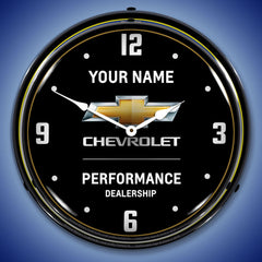 "Personalized Custom Chevy Performance 2 14"" LED Wall Clock"