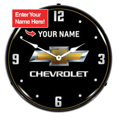 "Personalized Custom Chevrolet 14"" LED Wall Clock"