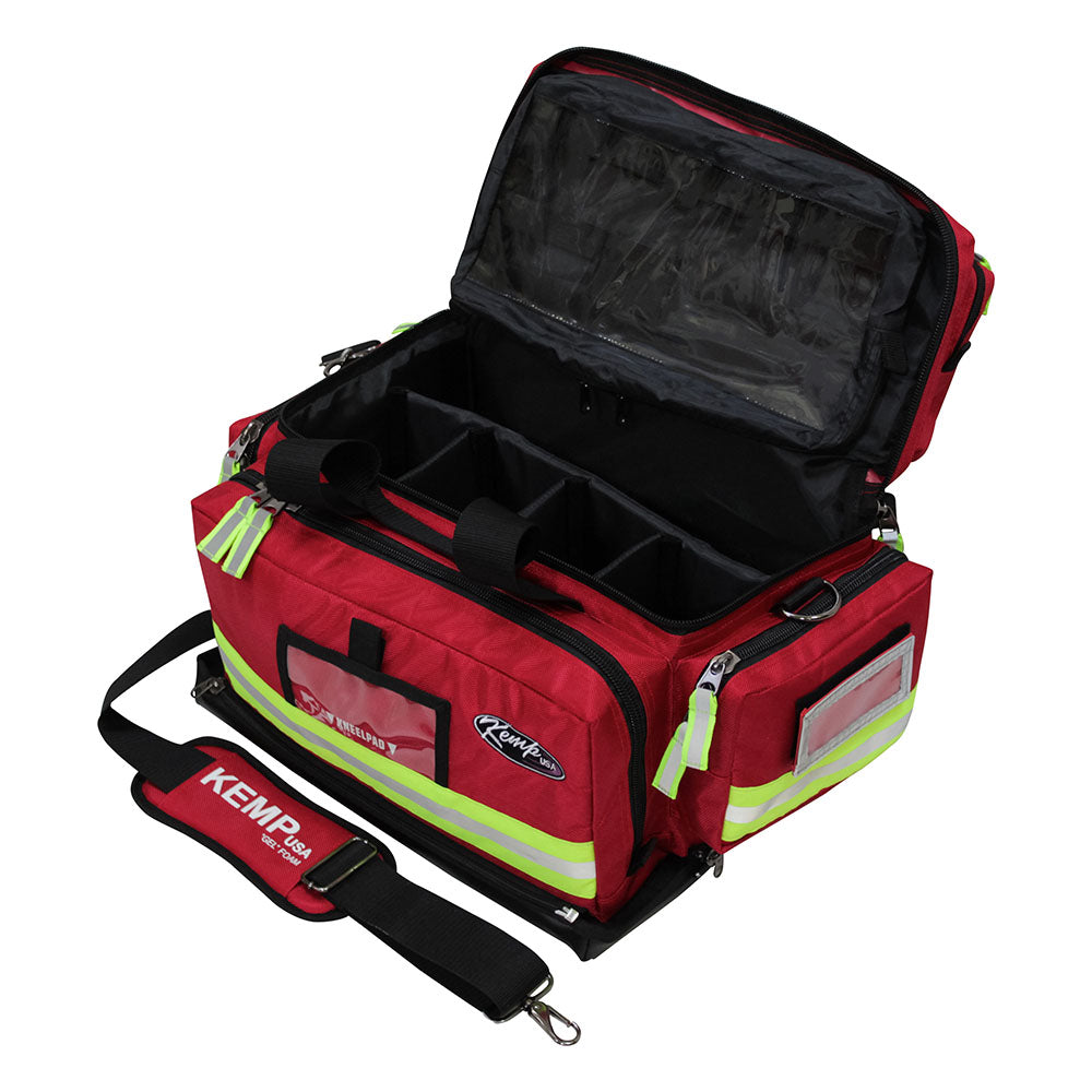 Kemp USA Red Tarpaulin Fluid-Resistant Large Trauma Bag