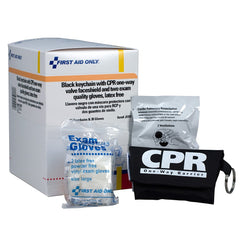 First Aid Only CPR Mask with Gloves Keychain, 15 Per Box