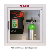 Heartsmart AED and Oxygen Surface Mount Wall Cabinet